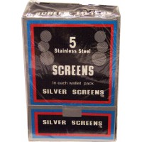 Boxed Pipe Screens SILVER 100x5pk (500) LOWEST $7.49