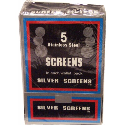 Boxed Pipe Screens SILVER 500 pieces
