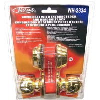 Entry and Deadbolt Lock Set - Brass. LOWEST $8.99