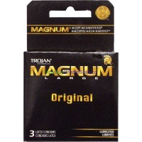 TROJAN CONDOMS MAGNUM 3'S LOWEST $2.49