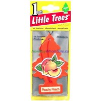 Little Trees Peachy Peach - Car Air Freshener - LOWEST $0.59 - UPC:076171103192