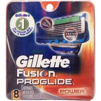 GILLETTE FUSION PROGLIDE POWER CARTRIDGE 8'S LOWEST $31.99