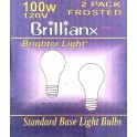 Light Bulbs 100W 2 Pack Frosted Brillianx