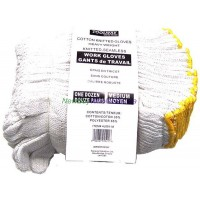 Work Gloves Knitted Cotton 12pk. - LOWEST $0.40 pair (non pegable)