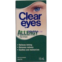 CLEAR EYES ALLERGY 15ML LOWEST$4.10