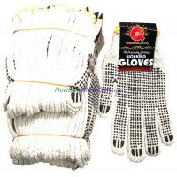 Work Gloves Knitted Dotted Peggable 12pk.