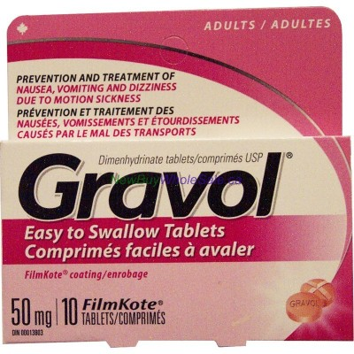 GRAVOL TABS 50MG 10'S LOWEST $2.79