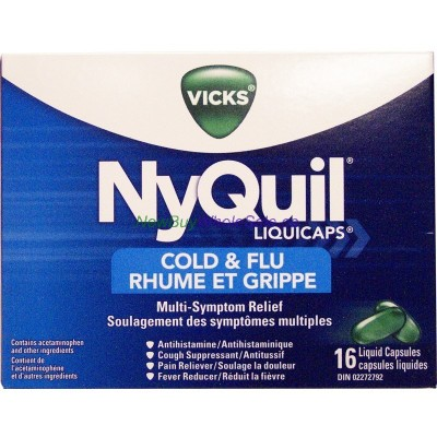 VICKS NYQUIL COLD & FLU CAPS 16'S LOWEST $7.29