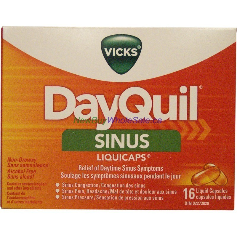 Vicks Dayquil Sinus Cap 16 S Lowest 7 29 Canada S