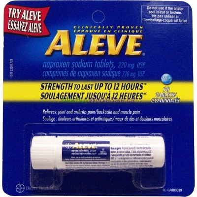 ALEVE 220MG TABS VIAL 10'S LOWEST $2.90