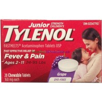 TYLENOL JR FASTMELTS DF GRAPE 20'S LOWEST $6.70