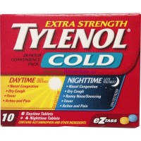 TYLENOL COLD X-STR D/N TABS 6+4 LOWEST $4.50