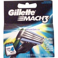 Gillette Mach3 4 Cartridges LOWEST $7.49