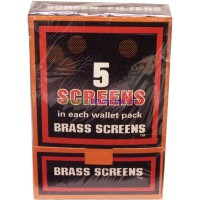 Boxed Pipe Screens BRASS 100x5pk (500) LOWEST $7.49