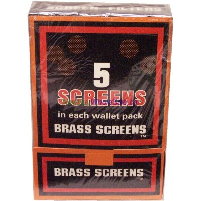 Boxed Pipe Screens BRASS 100x5pk (500) LOWEST $6.49