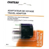 Travel Adaptor 3 Pin W5 - LOWEST $1.50 - for use in North America for all Plugs.