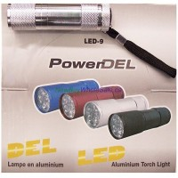 9 LED Aluminium Flashlight w Batteries. LOWEST $1.50