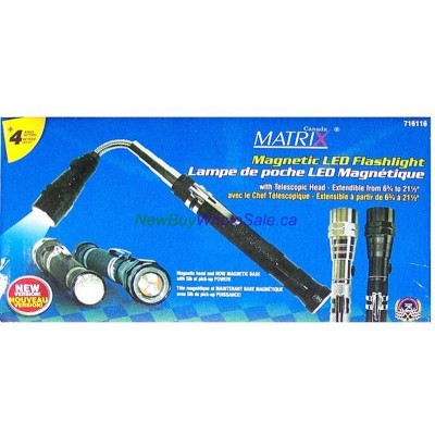 Magnetic, Telescopic, Extendible Head LED Flashlight - LOWEST $6.99 -With Clip and Batteries