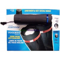 Zoom Focus LED Flashlight with Batteries. LOWEST $2.85