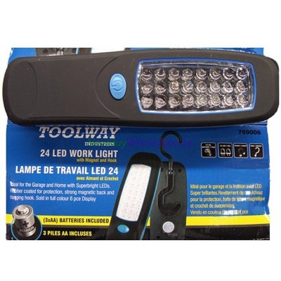 24 LED Worklight. LOWEST $4.50. Magnet, Hook and AA Batteries