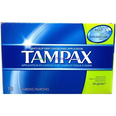 Tampax Tampons - Super 10pk. LOWEST $2.80 UPC:073010314092