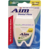 AIM Dental Floss - Mint Waxed -140yd 129m. - LOWEST $1.25 - UPC: