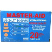 Master Aid Speciality Bandage 20pk Assorted- LOWEST $0.55 - Korea