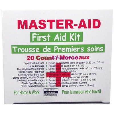 Master Aid First Aid Kit, 20 count- LOWEST $0.65 - Korea