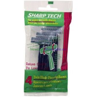Sharp Tech Twin Blade Pivoting Razor - LOWEST $0.55 - 4pk Korea