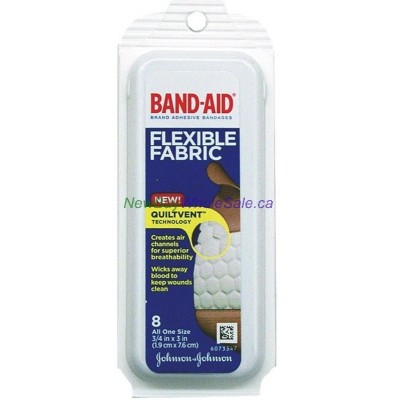 J&J Fabric Band-Aid 8pk in Travel Case - LOWEST $0.85