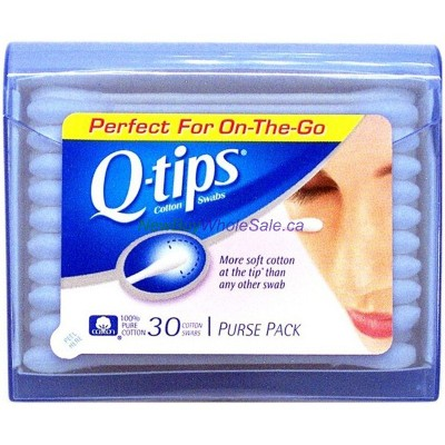 Q-tips 30pk in Purse Pack - LOWEST $1.10 - Travel Case