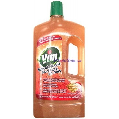 Vim Wood Surface Cleaner - LOWEST $3.75 - for Hard Wood, Laminate & Wood Kitchen Cabinets 1L. UPC:067238853877
