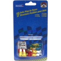 Auto Plug In Fuses 15 pc - LOWEST $1.65