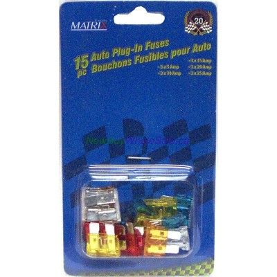 15 pc Auto Plug-In Fuses- LOWEST $1.55