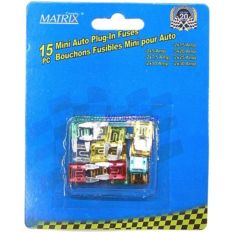 mini auto plug in fuses 15pc - lowest  2 05