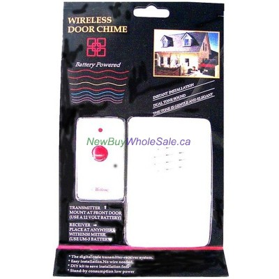 Wireless Door Chime - Battery Powered- LOWEST $9.99