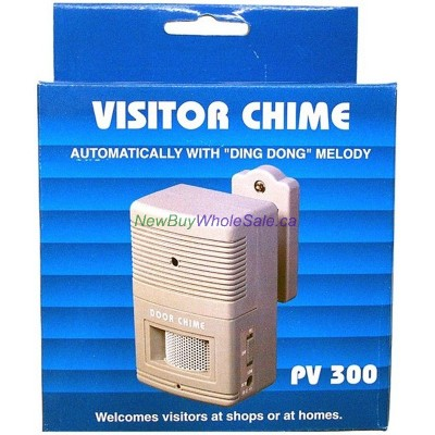 Visitor Chime Automatic Battery Operated- LOWEST $8.99 with DC Jack and Hi/Off/Low Switch