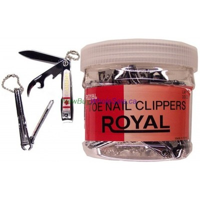 Royal Canada Nail Clipper. LOWEST $0.53 ea. Medium with File and Opener - Korea. 36pcs/display