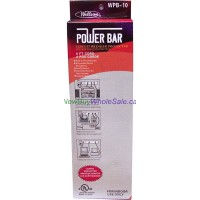 Power Bar 6 Outlet 4ft Cord - LOWEST $5.25 - with Surge Protection.