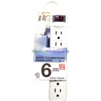 Power Bar with 6 Outlets and Surge Protection. LOWEST $3.49