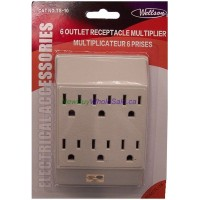 6 Plug Outlet Adaptor. LOWEST $1.75