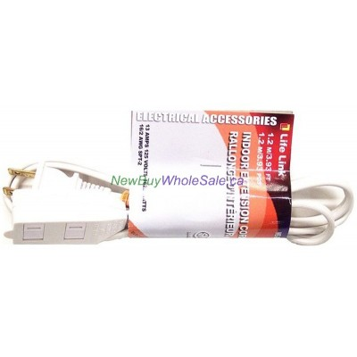 Electric Indoor Extention Cord 1.2m 3.9ft. LOWEST $1.00