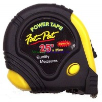 Measuring Tape 25ft x 1in - LOWEST $5.20 - Professional -Power Tape Magnetic Tip. Fat-Tap