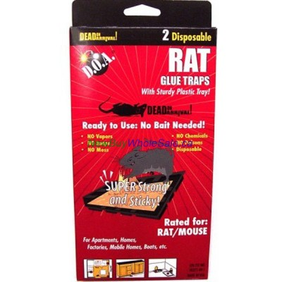 DOA Rat Glue Traps 2pk USA- LOWEST $1.15