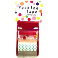 Carton Sealing Packing Tape clear with Dispenser- LOWEST $0.45 - 48mm x 12M