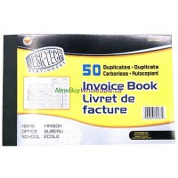 Invoice book - 50 carbonless duplicates - LOWEST $1.55