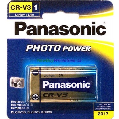 Panasonic Photo Power CR-V3 - LOWEST $7.99 - Lithium Battery - for Cameras
