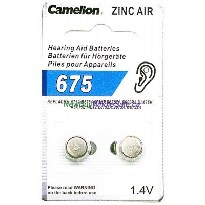 Camelion Hearing Aid Batteries 675 2pk