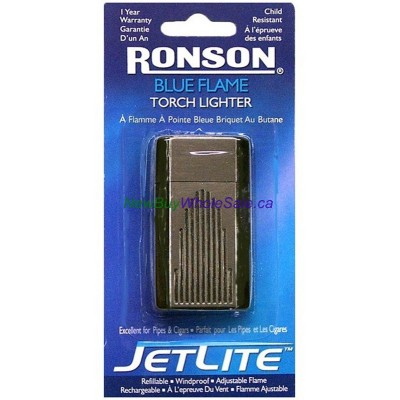 Ronson Jetlite Torch Lighter. Blue Flame. Carded. LOWEST $4.50