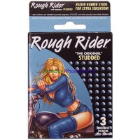 Contempo Lubricated Premium Latex Condoms - Rough Rider - Studded 3pk 6 pks/bundle
